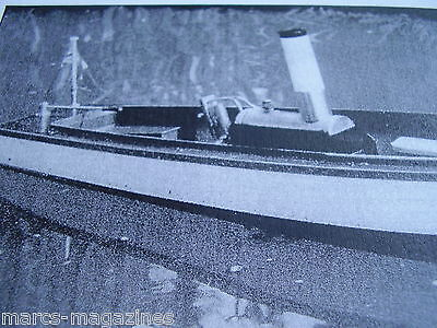 """A Model Boat Plan Rose 31 """" Steam Launch Model  On A3"""