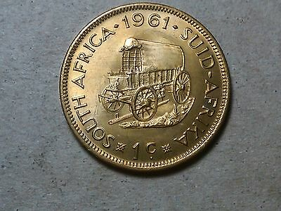 South Africa 1 cent 1961 Western wagon