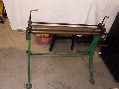 Pyramid Rolls, Bending Rollers 3ft Capacity On Cast Legs, Sheet Metal Pinch Roll