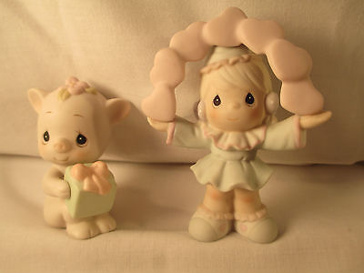 """Collectible Precious Moments """"Katie 529184 & Oinky Birthday"""" Figure"""