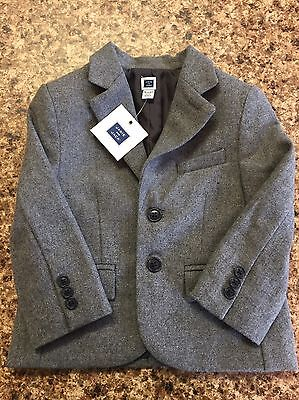 Janie And Jack Infant Toddler Boys 18-24 Month NWT Grey Suit Jacket