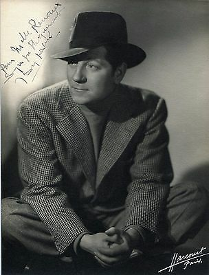 French Actor JEAN GABIN  (1904-1976) vintage Harcourt HAND-SIGNED PHOTO