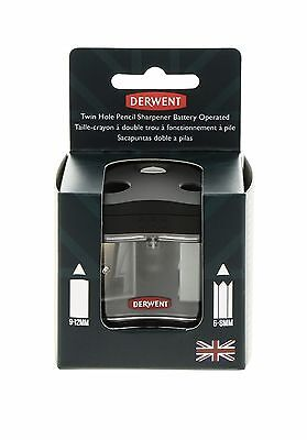 Derwent Twin Hole Battery Operated Compact Pencil Sharpener