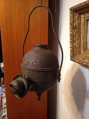 Antique Fancy Embossed Hanging Angle Lamp 2 Arm Project Parts