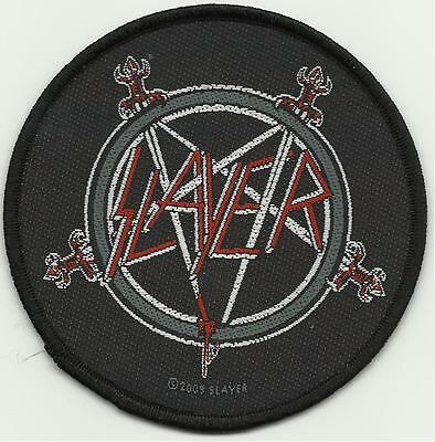 SLAYER swords logo 2009 circular - WOVEN SEW ON PATCH official merchandise