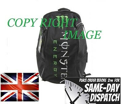 Brand New Monster Motorcycle Helmet Backpack Laptop Biker Sport Riding Bag