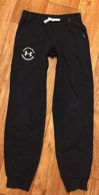 UNDER ARMOUR Youth Large Black Skinny Athletic Cotton Jogger Sweat Pants!