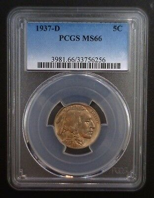 1937 D Buffalo Nickel PCGS MS 66