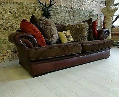 038 Chesterfield brown leather 2-3 seater sofa barker & stonehouse?