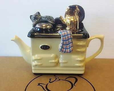 1 cup cream aga teapot by swineside aka teapottery   xmas special