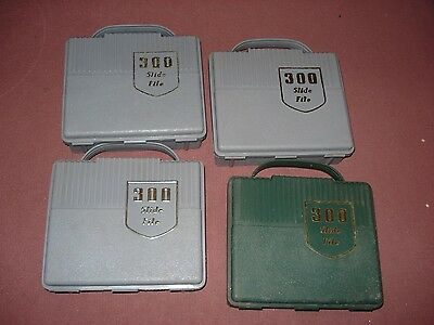 Photo slide storage boxes x 4. Space for 300 slides per box. Gd cond for age