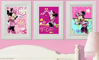 Disney  Minnie Mouse Picture Print Poster  wall bedroom (B3)