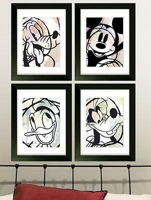 Disney Picture Poster Print  Wall Art Bedroom Mickey Mouse Pluto Nursery  (Set B