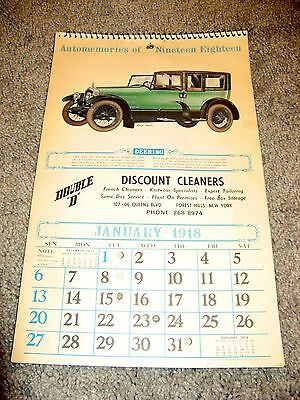Automemories 1918 Calendar, Discount Cleaners, Forest Hills, NY, 1974 Calendar