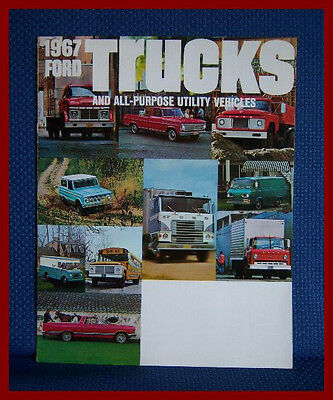 1967 FORD Trucks + Utility Vehicles Sales Brochure - EXCELLENT CONDITION!