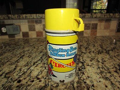 Vintage Nice Rare 1970 Ringling Bros Vinyl Lunchbox Thermos L@@k!