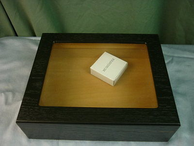 Quality Importers Black Glass Top Cigar Humidor 16K077  072711