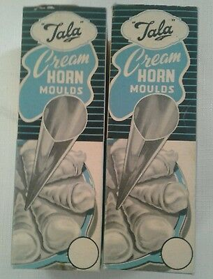 (12) vintage TALA Cream Horn Moulds (No. 996) made in England - 2 boxes of 6 ea.