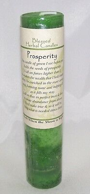 PROSPERITY Candle Wiccan Pagan Coventry Creations MONEY Blessed Herbal candle