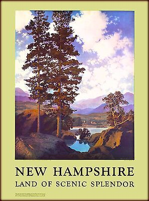 New Hampshire Scenic Splendor United States Vintage Travel Advertisement Poster