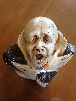 Rare Antique Boston Plastic Art Co Plaster Vampire Candle Wall Hanging Halloween