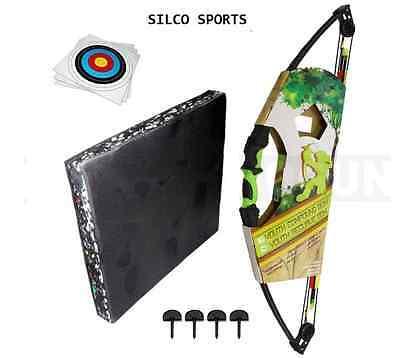 Kids Compound Archery Bow Kit with Foam Target, 3x Arrows 5 Targets, 4 Pins.....