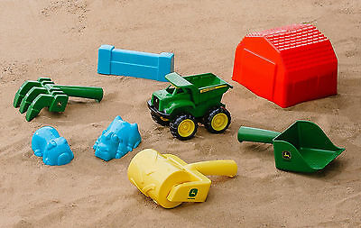 Licensed John Deere Sand Pit Tools & Accessories Set Sandpit/Beach Outdoor Toys