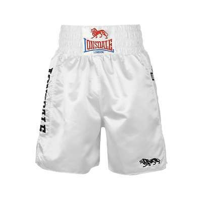 Lonsdale Lonsdale Pro Large Logo Trunks - White & White