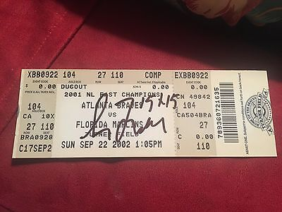 Greg Maddux Signed Full Ticket 15/15 Historic Game