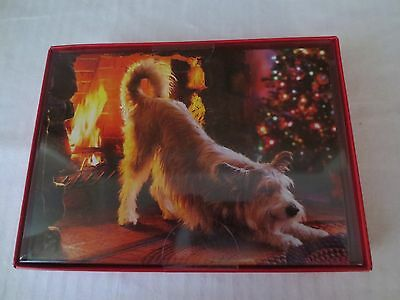 AVANTI Christmas Cards CHESTNUTS ROASTING Dog Fire Funny! 14 CT 16 Envelopes NEW