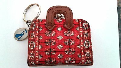 Mary Poppins Miniature Carpet Bag Coin Purse Key Chain Disney Broadway Musical