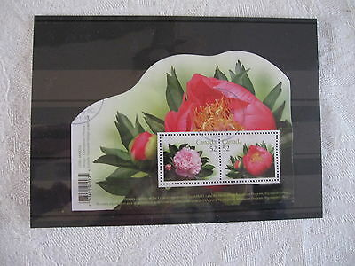 Canadian Peonies   Minisheet From Canada, V Fine Used Condition, Post Paid