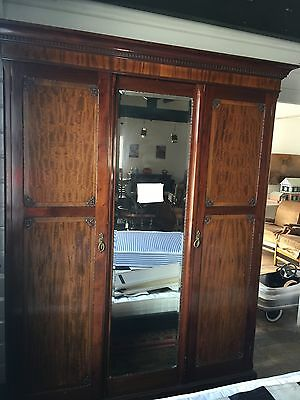 Antique Edwardian Triple Wardrobe
