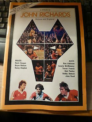 Signed John Richards Wolves 1981/82 Testimonial Brochure - Great Condition