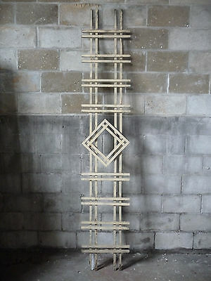 Antique Craftsman Style Diamond Porch Lattice - Circa 1910 Architectural Salvage