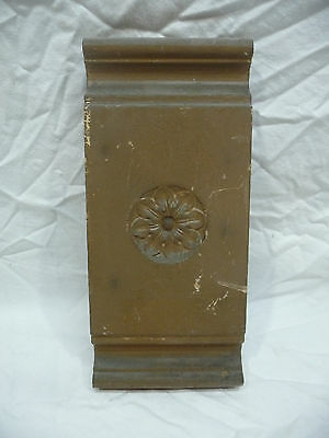 Antique Victorian Rosette / Plinth Block - C. 1880 Fir Architectural Salvage