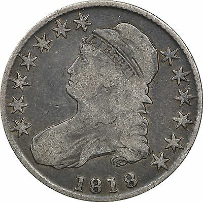 1818 Capped Half Dollar, Very Good VG