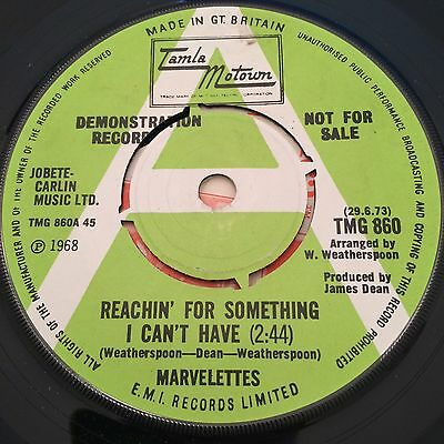 Marvelettes 'reachin' For Something I Can't Have' Rare Tamla Motown 60's Mod