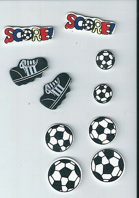 Soccer - Wooden Embellishment - 4cms - EMB409 - 10 Pieces