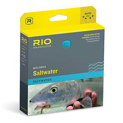 RIO Avid Saltwater Fly Line Weight Forward Floating Sandy Blue Fly Fishing