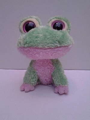 """Ty Beanie Babies Boos Boo Buddy 2009 Kiwi the Green & Pink Frog Soft Toy 6"""""""