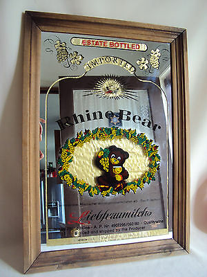Vintage Bar Pup Mirror  Rhine Bear Sign