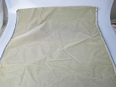 Antique velvet fabric remnant France Victorian cotton silk light sage Piece