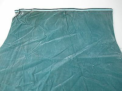 Antique Fabric Remnant France Victorian Cotton Silk Teal Piece