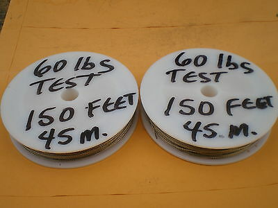 STAINLESS STEEL WIRE LEADER 300 FEET (90m.) 60 lbs. TEST 1X7 STRAND-COATED-CLEAR