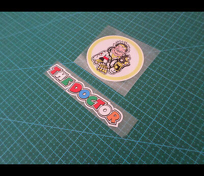 2 Pics valentino Rossi THE DOCTOR Reflective Decal Sticker #10