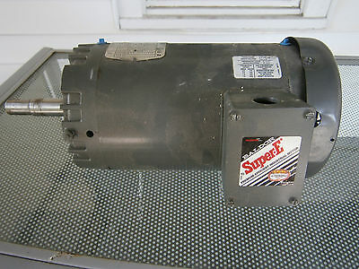 Baldor Electric Motor Super-E 3 Phase 2 HP 208-230/380 Volts