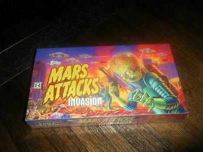 Topps Mars Attacks Invasion 2 Hits Per Hobby Box 24 Packs 5 Alien Apocalypse Htf