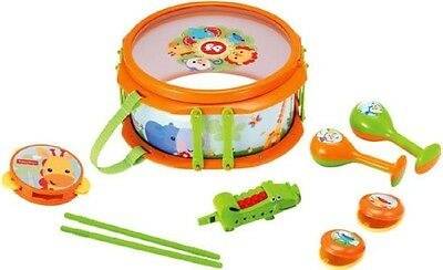 NEW FISHER PRICE Musical Band Drumset KPF2136 7 Instruments Music Percussion