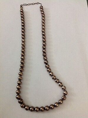 """Sterling silver bead necklace approx 21"""" long 25-10"""